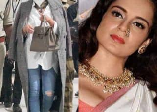 Kangana Ranaut SHAMES female achievers for wearing Americanized torn jeans, Twitterati TROLLS her with pictures in similar outfits