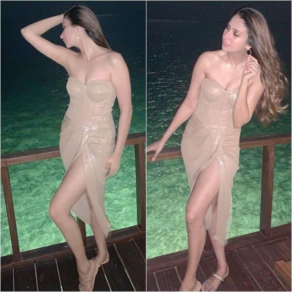 Hot in nude corset dress
