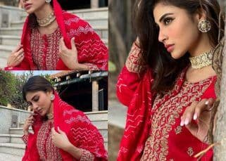 Brahmastra actress Mouni Roy is here to steal your hearts in a red suit – view pics
