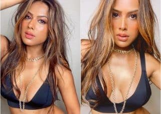 Modern brown girl, Nia Sharma, sizzles in a bralette with a plunging neckline — view pics