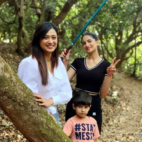 Shweta Tiwari with her kids