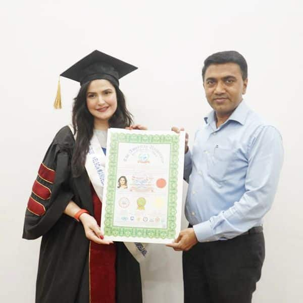Bollywood News - Zareen Khan joins Shah Rukh Khan and Amitabh Bachchan  among Bollywood celebs with doctorates — view pics