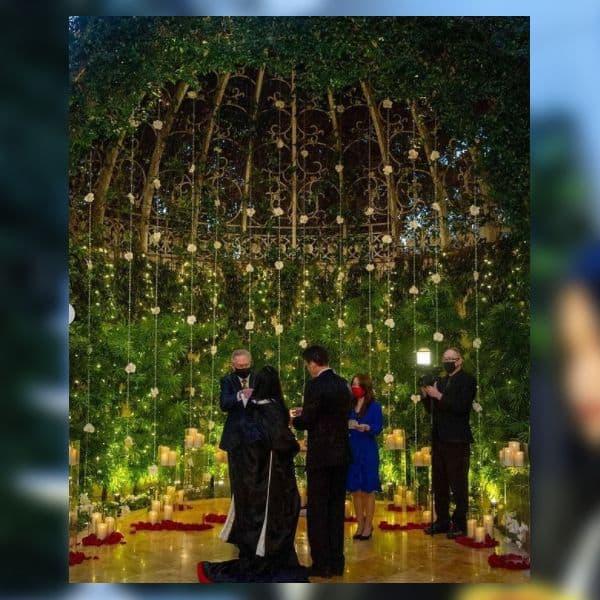 जापानी और अमेरिकन रीति रिवाजों से हुई है शादी