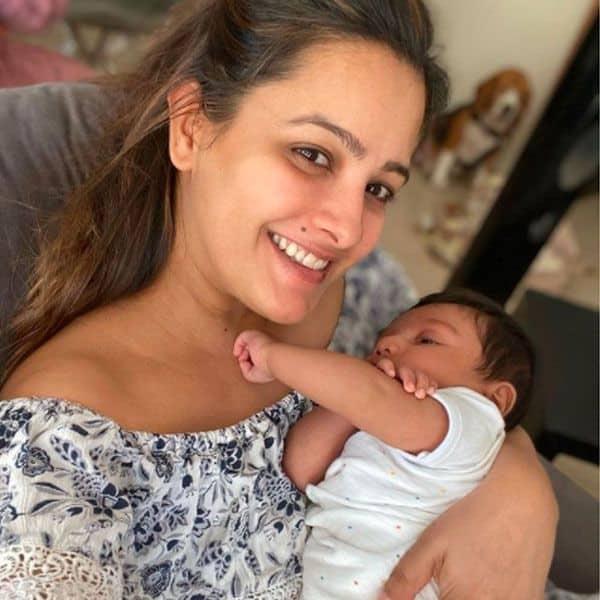 Anita Hassanandani with baby boy Aarav