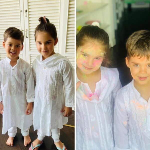 Karan Johar ने बच्चों के साथ मनाई होली