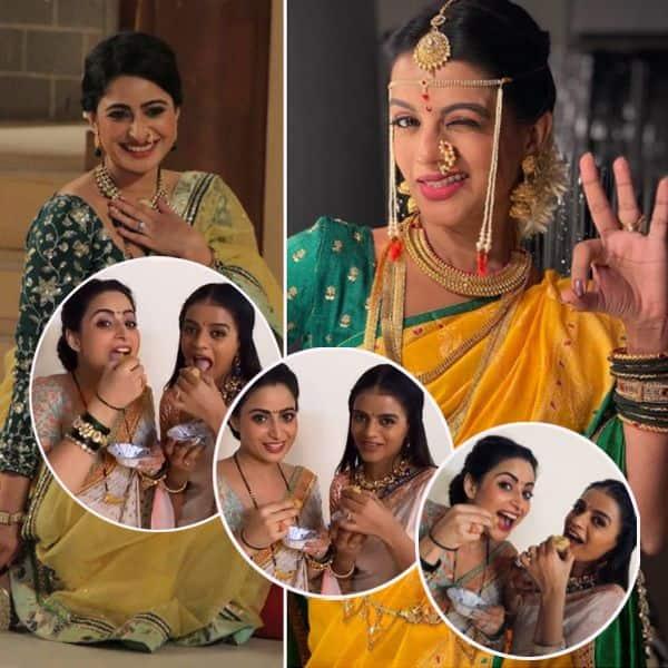 सेट पर गोलगप्पा पार्टी करतीं दिखीं ऐश्वर्या शर्मा (Aishwarya Sharma)