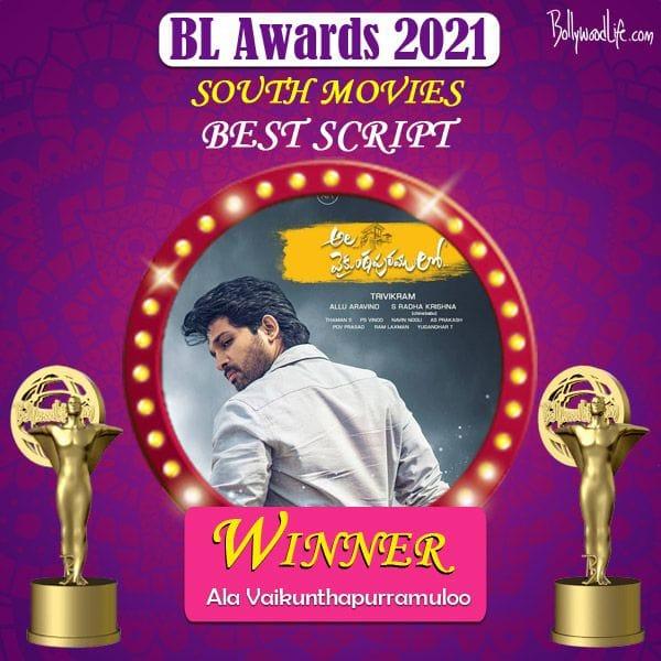 Best Script - Ala Vaikunthapurramuloo