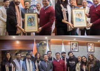 Bhediya: Varun Dhawan and Kriti Sanon to kickstart the first schedule in Arunachal Pradesh; Cast and crew meet the CM of the state