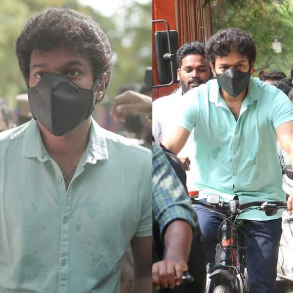 वोट डालने साइकिल से आए थलापति विजय (Thalapathy Vijay)