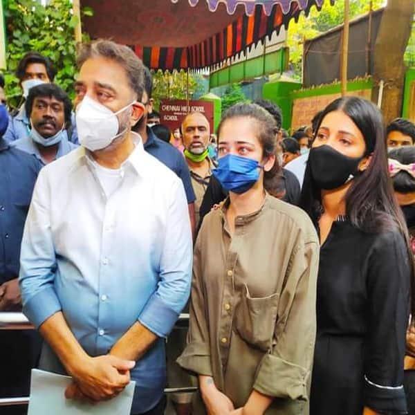 South star Kamal Haasan with his daughters Shruti and Akshara
