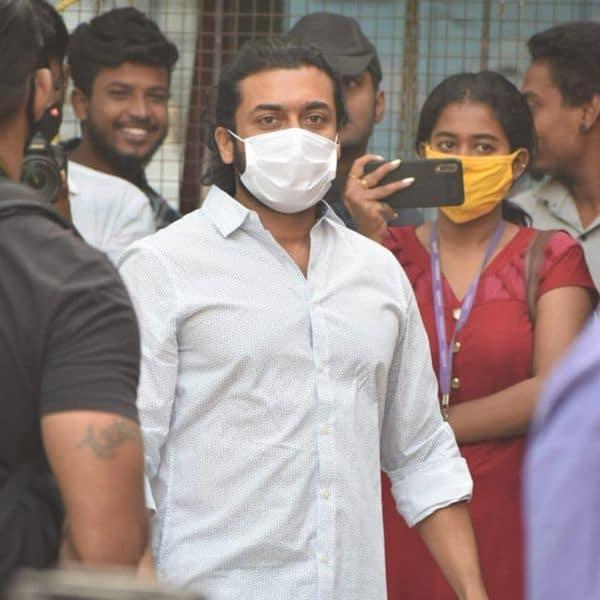 Suriya arrived to cast his vote