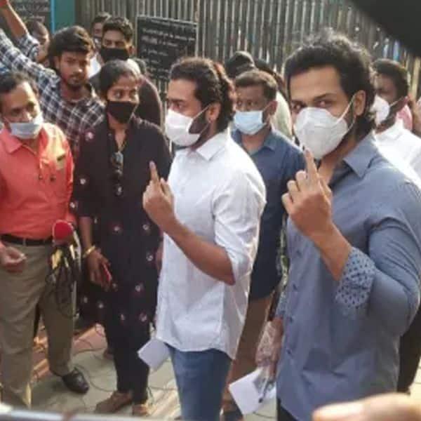 सूर्या के भाई कार्ति और पिता ने भी डाला वोट
