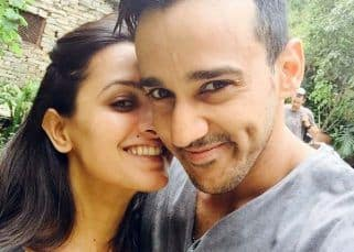 Anita Hassanandani 40th birthday celebrations involved balloons, cakes and a kiss from hubby Rohit Reddy – watch video
