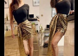 Guess The Price: Mouni Roy's shimmering golden skirt is costlier than a basic Apple iPad