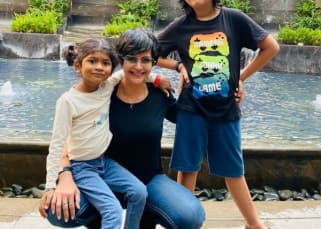Mandira Bedi lambasts a troll who asked her which slumdog center did she adopt Tara from