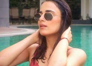 Radhika Madan takes a dig at the spate of celeb Maldives pics as she poses in the pool with a twist