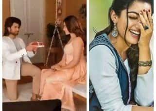 Vijay Deverakonda ने घुटने पर बैठकर Rashmika Mandanna को किया प्रपोज, तो शरमा गईं 'नेशनल क्रश'
