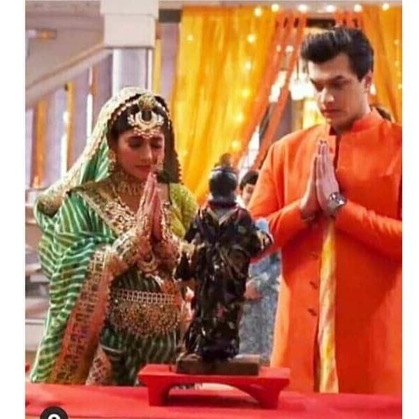 गणगौर की पूजा करते दिखे सीरत (Sirat) और कार्तिक (Mohsin Khan)