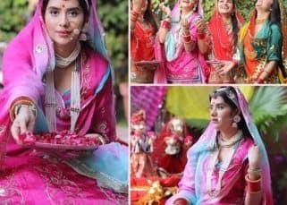 Charu Asopa ने अपनी सखी सहेलियों के साथ मनाया गणगौर का त्योहार, बीकानेर पहुंचते ही पहनी तारों से सजी चुनरी