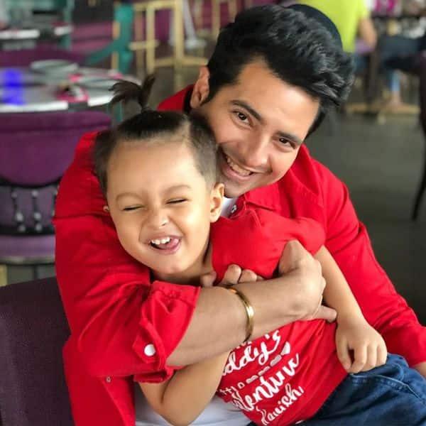 Karan Mehra with son Kavish