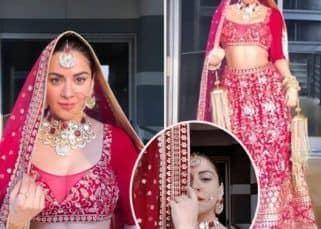 Kundali Bhagya actress Shraddha Arya aka Preeta looks ethereal in bridal outfit – view pics
