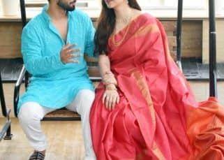 Disha Parmar ने लाल रंग की साड़ी पहनकर की Rahul Vaidya के घर गुड़ी पड़वा की पूजा, देखें Inside Pics