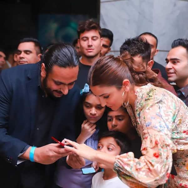 Anushka with niece and nephew