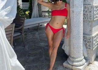 Eva Longoria stuns in a red bikini as she reminds us of Desperate Housewives