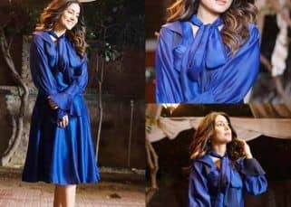 Hina Khan looks like a princess in royal blue dress – view pics