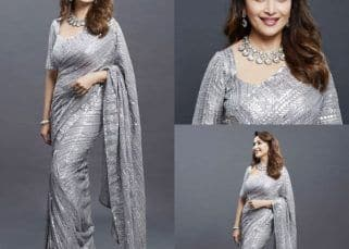 Dance Deewane 3: Madhuri Dixit Nene looks graceful in a metallic grey saree
