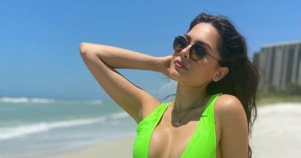Miss Universe 2021 Andrea Meza stuns in a neon green monokini – view pics