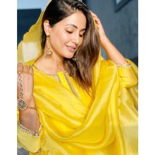 हिना खान की पीली चुनर ने लूटा था दिल
