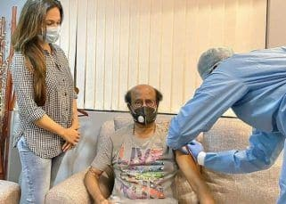 Rajinikanth gets 2nd jab of COVID-19 vaccine; daughter Soundarya shares a pic with a safety message