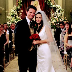 FRIENDS star Matthew Perry aka Chandler and Courteney Cox aka Monica are supposedly distant cousins, could it get anymore weird?