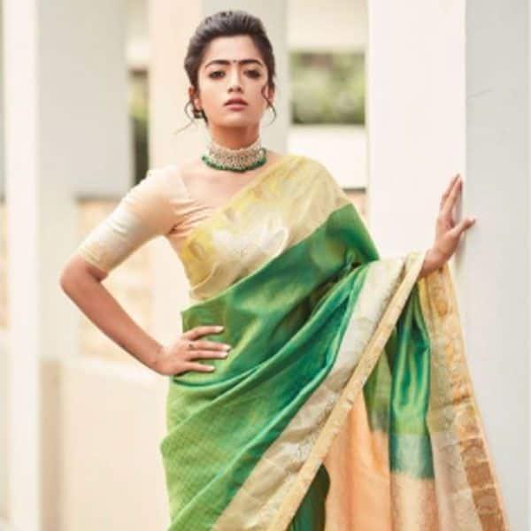 रश्मिका मंदाना (Rashmika Mandanna) के पास है हर रंग की साड़ी