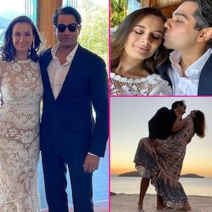 Evelyn Sharma के हनीमून की तस्वीरें वायरल, बीच पर पति Tushaan Bhindi को किस करती नजर आईं 'ये जवानी है दीवानी' एक्ट्रेस