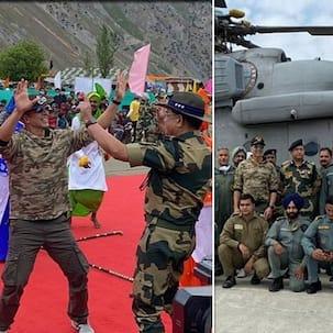 Akshay Kumar ने BSF जवानों के साथ बॉर्डर पर जाकर की मस्ती, सोशल मीडिया पर छाईं तस्वीरें