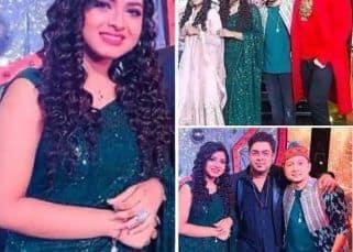 Indian Idol 12: Arunita Kanjilal की हरी साड़ी ने खींचा सबका ध्यान, सेट पर Pawandeep Rajan संग यूं मारा पोज