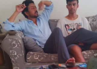 Irrfan's son, Babil Khan responds to a social media user's query about whether the Hindi Medium star held a join in his hand – view pic