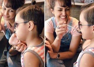 Amidst legal battle with husband Karan Mehra, Nisha Rawal shares fun pictures with son Kavish