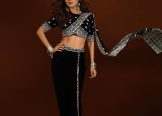 It's expensive! Shilpa Shetty's pre-stitched black saree set comes with a hefty price tag that will leave your jaws dropped to the floor