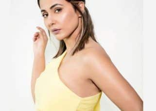 Hina Khan looks stunning as she poses in a yellow dress – view pics
