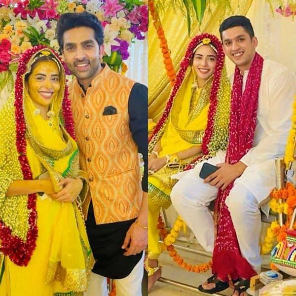 Sana Sayyad's haldi ceremony