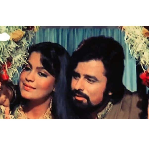 Sanjay Khan and his first wife thrashing his second wife, Zeenat Aman