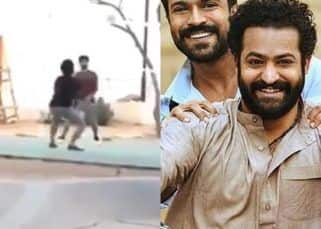 RRR: Jr NTR and SS Rajamouli playing volleyball on the sets of their film proves it is not all work and no play for the team – watch video