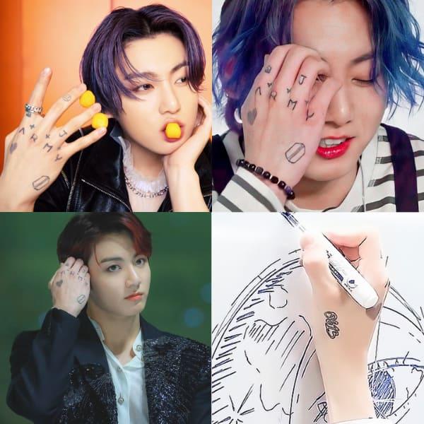 Jungkook and his tattoos