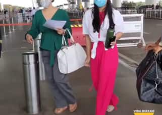Kajol and daughter Nysa Devgn get clicked at the airport but paparazzi's rant, 'kya yaar Rishi, tune chappal tod diya' leaves netizens in splits – watch video