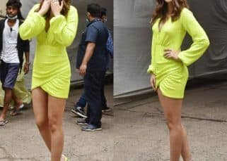 Mimi star Kriti Sanon flaunts her perfectly toned legs in a neon dress – see pics