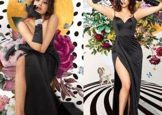 Janhvi Kapoor turns into a temptress in a black thigh-high slit gown – view latest photoshoot pictures
