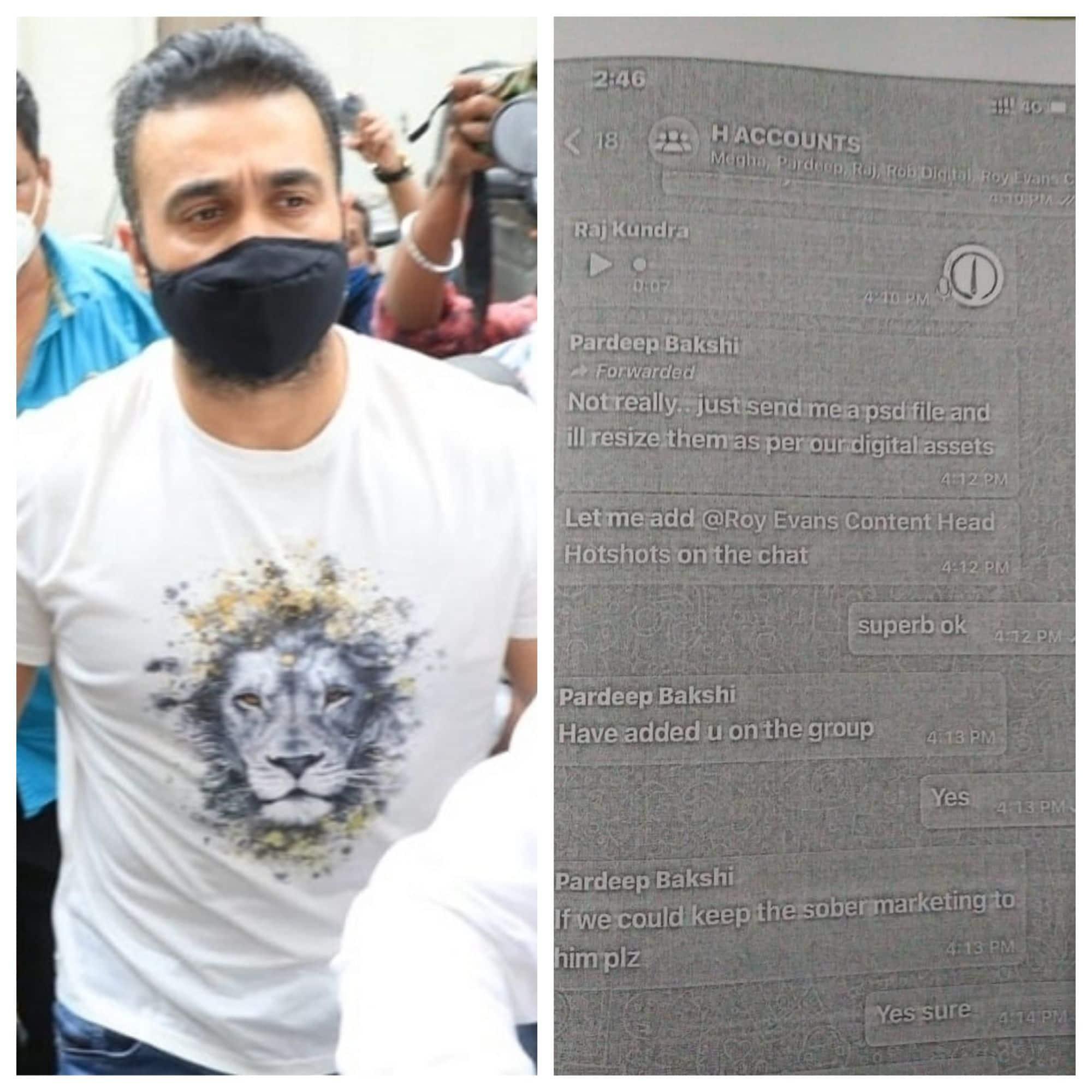 पोर्नोग्राफी आरोपी Raj Kundra की व्हाट्सएफ चैट हुई लीक